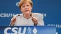 Angela Merkel lors d'un meeting à Munich le 28 mai 2017.