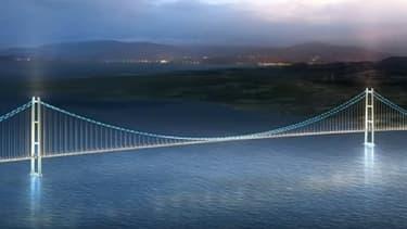 Une représentation graphique du futur pont