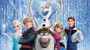 Les protagonistes de La Reine des neiges