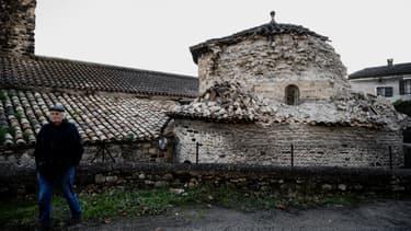 Une église du Teil, qui n'a pas résisté au séisme