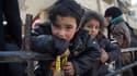 Des enfants syriens évacués de la Ghouta dans un camion des Casques Blancs, le 4 mars 2018.