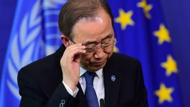 """Le secrétaire général de l'ONU Ban Ki-moon a réclamé mercredi que Pyongyang """"cesse toute activité nucléaire"""" - Mercredi 6 janvier 2016"""