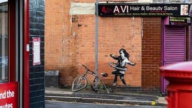 Une oeuvre de Banksy sur les murs de Nottingham.