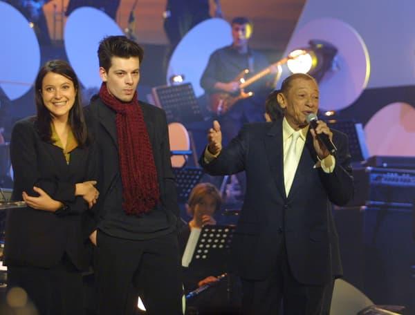 Benjamin Biolay, Keren-Ann et Henri Salvador sur la scène de l'Olympia en février 2001.