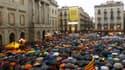 Des milliers de personnes ont réclamé à Barcelone un vote sur l'indépendance.