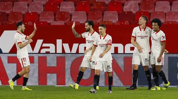 La joie des joueurs du FC Séville