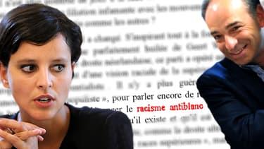 """Accusé de récupérer les idées de l'extrême droite, Jean-François Copé avance que Najat Vallaud-Belkacem a également parlé de """"racisme anti-blancs""""."""