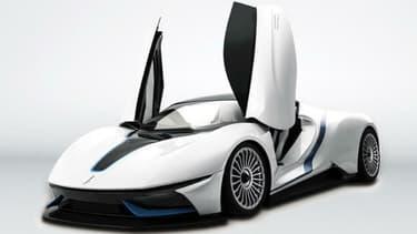Cette supercar aux portes en élytre a fait sensation au salon de pékin, aussi bien pour son design très sportif que pour ses performances annoncées: 400km d'autonomie et 603 chevaux sous le capot.