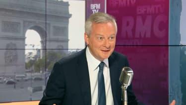Bruno Le Maire face à Jean-Jacques Bourdin sur RMC et BFM TV.