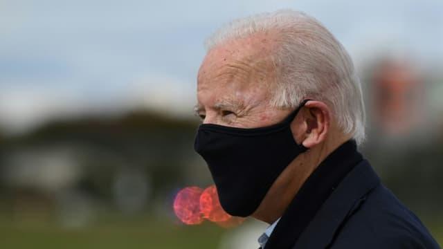 Joe Biden à son arrivée à Grands Rapids, dans le Michigan, le 1er octobre 2020