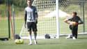Stefan Bajic à la reprise de l'entrainement de Saint-Etienne