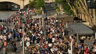 Les rives de Seine à Paris, le 2 juin 2020, à l'ouverture de la deuxième phase de déconfinement.