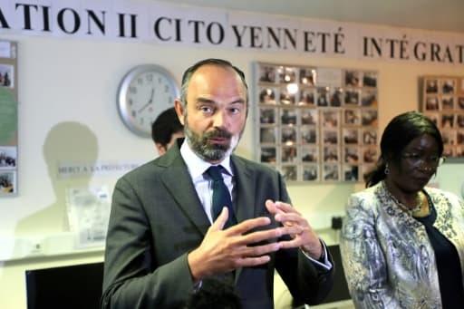 Edouard Philippe s'adresse à la presse à Evry, le 9 juin 2020
