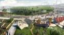 A l'horizon 2024, le projet Europacity, du groupe Auchan et du chinois Wanda, veut bâtir une gigantesque surface commerciale, ainsi que des hôtels, des salles de spectacle, un parc aquatique et une piste de ski, sur 80 hectares dans le triangle de Gonesse (Val d'Oise).