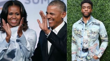 Le couple Obama, Chadwick Boseman