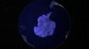L'Antarctique, vue depuis l'espace.