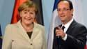Angela Merkel et François Hollande ce mardi à Berlin