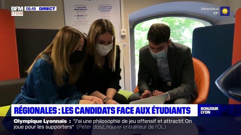 Lyon: les candidats aux élections régionales face aux étudiants