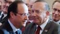 François Hollande et Pierre Gattaz, le président du Medef.