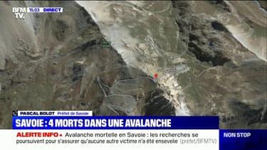 """Trois personnes seraient impliquées dans une seconde avalanche """"au-dessus de Bourg-Saint-Maurice"""", selon le préfet de Savoie"""
