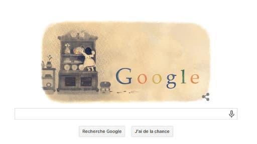 Le doodle de Google pour les 215 ans de la naissance de la Comtesse de Ségur.