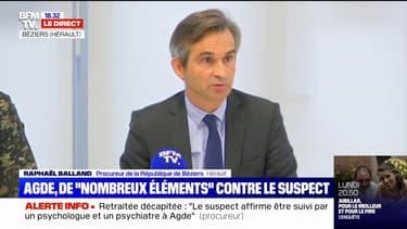 """Femme décapitée à Agde: le suspect mis en examen pour """"assassinat"""" et """"vol dans une habitation"""", annonce le procureur de Béziers"""