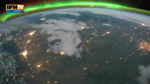 Un orage depuis l'espace
