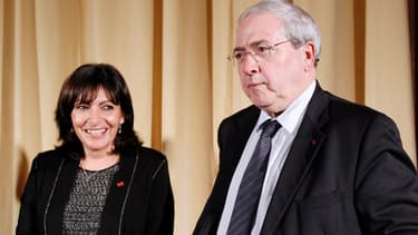Le maire de Paris, Anne Hidalgo et le président de la région Ile-de-France, Jean-Paul Huchon.