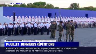 14-Juillet : les dernières répétitions du défilé place de la Concorde