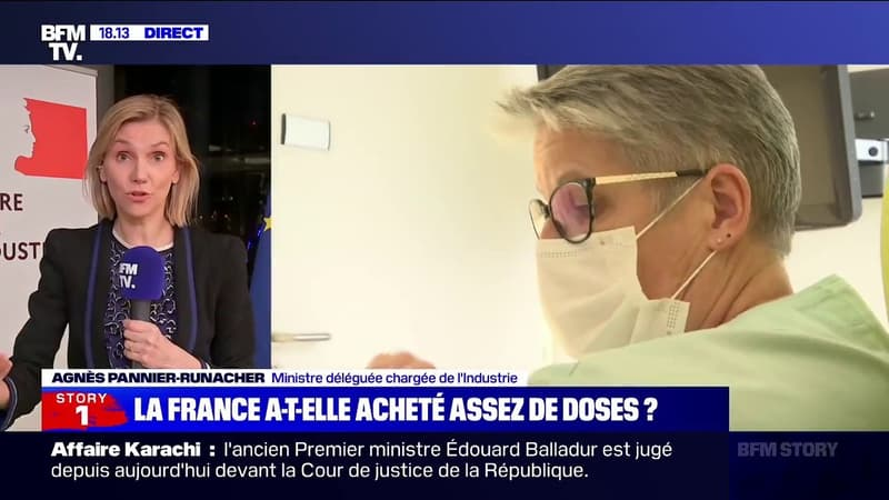 """Agnès Pannier-Runacher: """"Il y a plus de doses qui ont été distribuées dans les centres de vaccination que de rendez-vous donnés"""""""