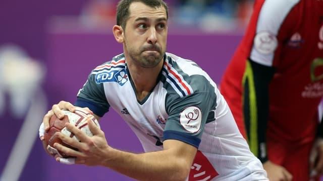 Michaël Guigou avec les Bleus