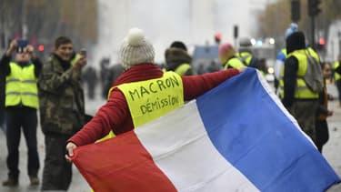 Sur les Champs-Elysées, le 24 novembre 2018.