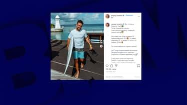 Capture d'écran tirée du compte Instagram de Sergueï Kosenko.