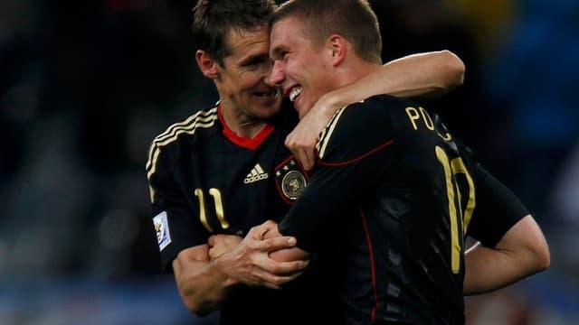 Lukas Podolski et Miroslav Klose