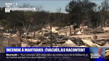 Incendie à Martigues: évacués, ils racontent