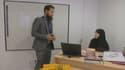 Le directeur de l'école musulmane de Nanterre donne ses dernières directives à une enseignante.