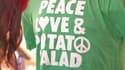 """Le slogan """"Peace, love and potato salad"""" était sur tous les t-shirts lors du festival PotatoStock."""