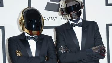 Daft Punk aux 56e Grammy Awards à Los Angeles le 26 janvier 2014