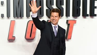Tom Cruise lors de l'avant-première de Mission Impossible à Londres