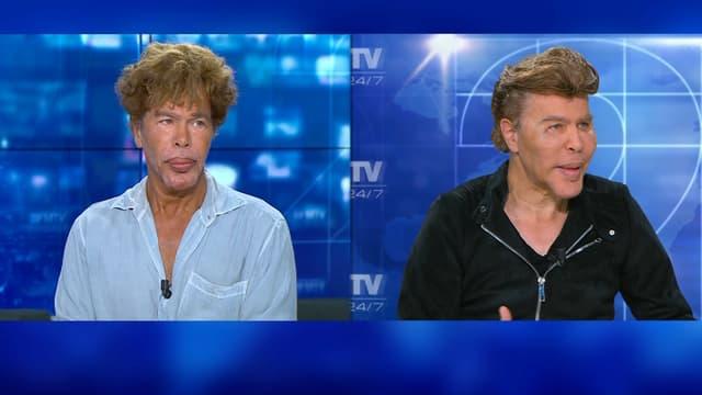 Igor et Grichka Bogdanoff sur le plateau de BFMTV, le 23 juin 2018