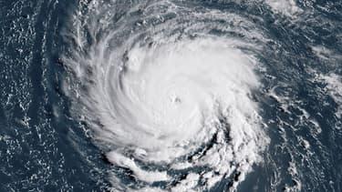L'ouragan Florence à l'approche des côtes américaines, le 10 septembre 2018.
