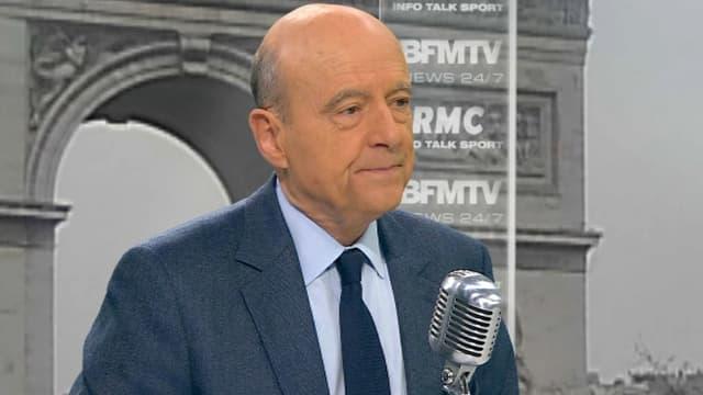 Alain Juppé vendredi matin sur BFMTV et RMC.