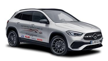 """Le petit SUV compact de Mercedes, le GLA, a été élu """"Plus belle voiture de l'année 2021"""" par les internautes dans le cadre du Festival Automobile International."""
