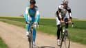 Aux côtés de Peter Van Petegem, l'Espagnol a reconnu les zones pavés du prochain Tour de France