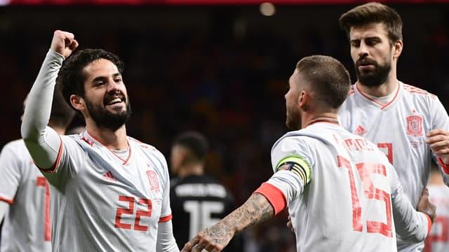 Isco a inscrit un triplé contre l'Argentine