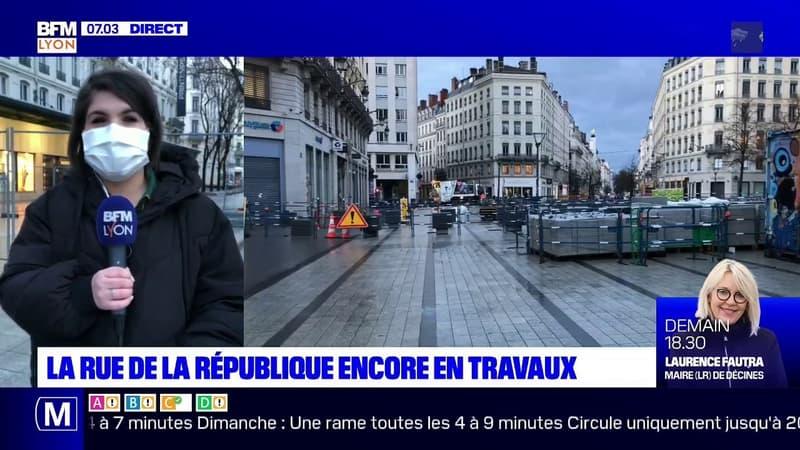 Lyon: la rue de la République à nouveau en travaux