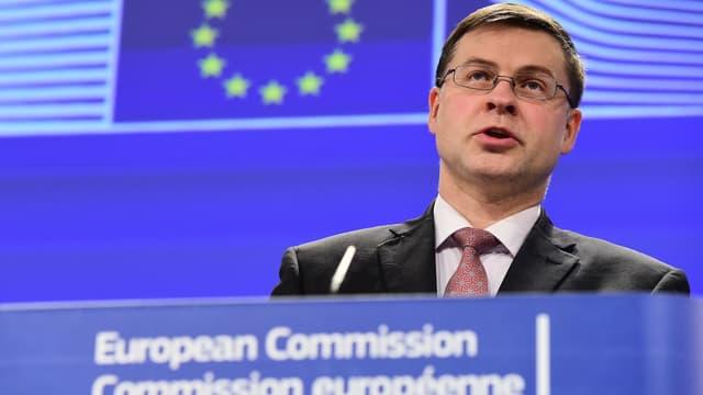 Valdis Dombrovskis, le vice-président de la Commission européenne