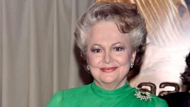 L'actrice Olivia de Havilland en 1986