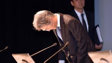 Le directeur financier de Sony, Kenichiro Yoshida, a présenté des résultats 2014-2015, en perte mais moins mauvais que prévu il y a 6 mois.