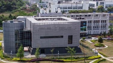 Vue aérienne du laboratoire P4 à Wuhan